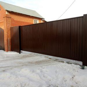 Механические откатные ворота